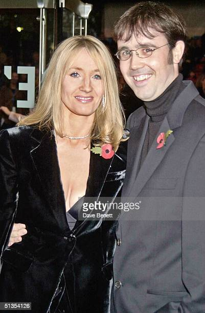 Writer J K Rowling and husband Neil Murray at the UK Film Premiere of 'Harry Potter And The Philosopher's Stone' held at the Odeon Leicester Square...