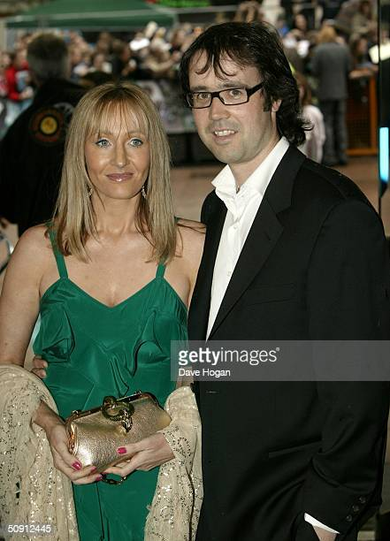 Writer J K Rowling with husband Neil attend the UK Premiere of Harry Potter And The Prisoner Of Azkaban at the Odeon Leicester Square on May 30 2004...