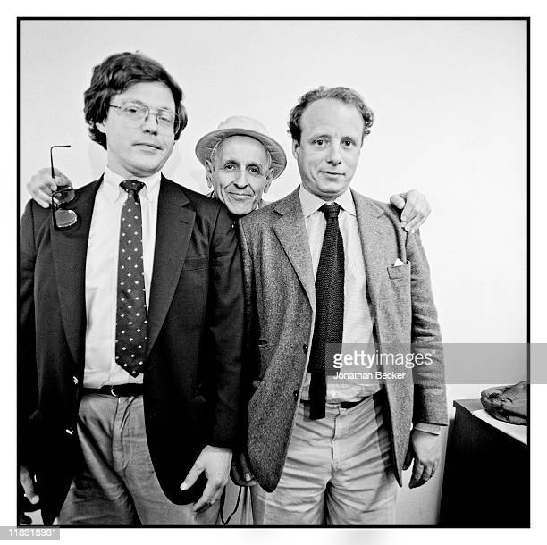 Writer Jack Lessenberry Dr Jack Kevorkian and photographer Jonathan Becker are photographed for Vanity Fair Magazine on April 1224 1994 in Detroit...