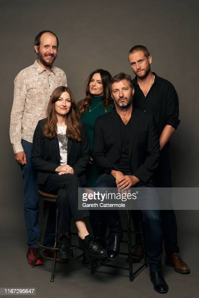 Writer Jack Thorne Kelly Macdonald Julia Stone director Gregor Jordan and actor George Mason from the film 'Dirt Music ' pose for a portrait during...