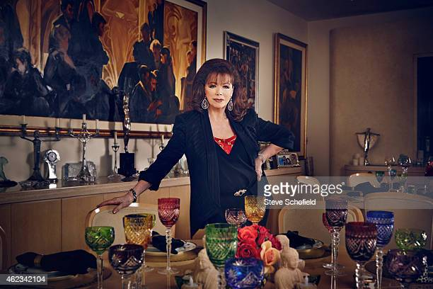 Writer Jackie Collins is photographed for ES magazine on June 17 2014 in Los Angeles California