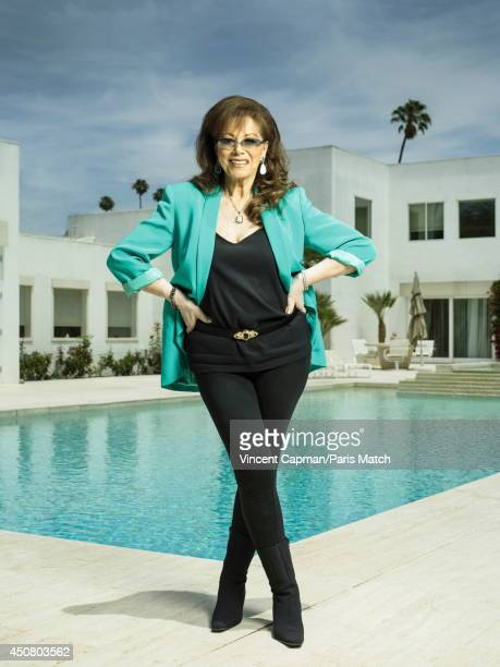 Writer Jackie Collins is photographed for Paris Match on May 29 2014 in Los Angeles California