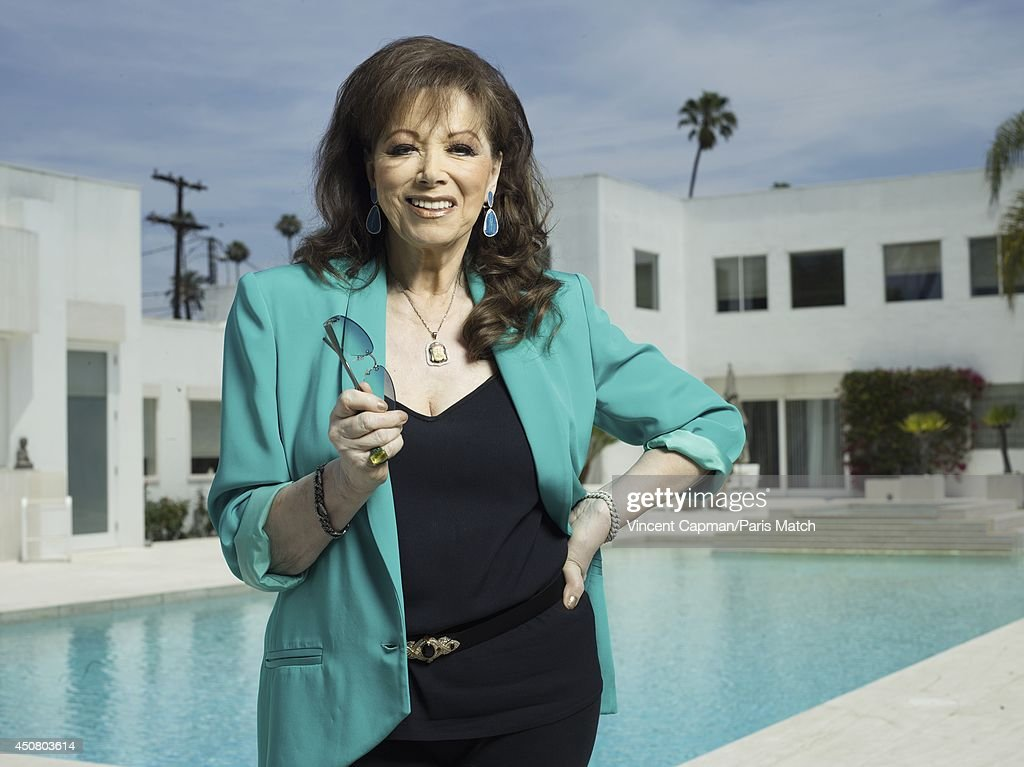 Writer Jackie Collins is photographed for Paris Match on May 29, 2014 in Los Angeles, California.