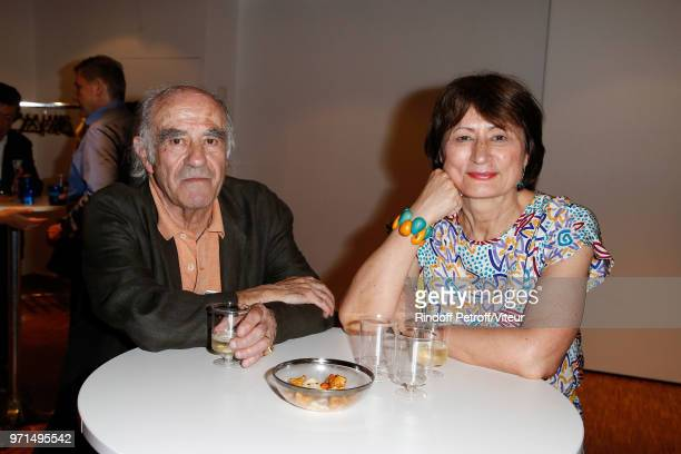 Writer Jacques Henric and Writer Catherine Millet attend Sans Moderation Laurent Gerra's One Man Show at Palais des Congres on June 8 2018 in Paris...