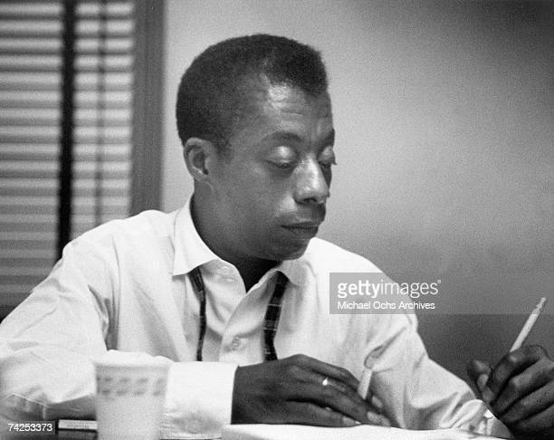 Writer James Baldwin candid portrait session circa 1965