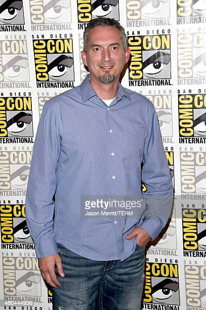 Writer James Dashner attends the 20th Century Fox press room during ComicCon International 2015 at the Hilton Bayfront on July 11 2015 in San Diego...