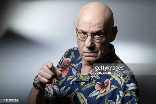 TOPSHOT US writer James Ellroy poses during a photo session in Paris on November 13 2019