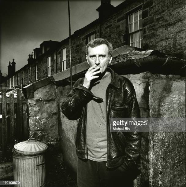 Writer James Kelman is photographed for Newsweek on June 26 1995 in Glasgow Scotland