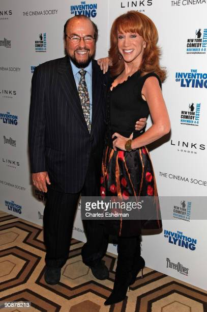 Writer James Lipton and comedian Kathy Griffin attends The Cinema Society and Links of London's screening of The Invention Of Lying at the Tribeca...
