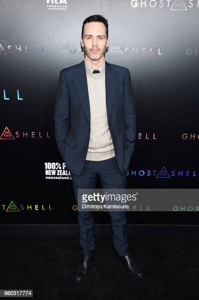 """Writer Jamie Moss attends the """"Ghost In The Shell"""" premiere hosted by Paramount Pictures & DreamWorks Pictures at AMC Lincoln Square Theater on March..."""
