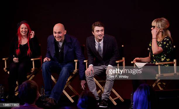 Writer Jane Goldman director James Watkins and actor Daniel Radcliffe are interviewed by Edith Bowman at a 'Meet the Filmmakers' event to discuss the...