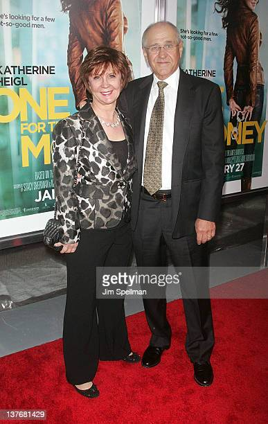 Writer Janet Evanovich and husband attend the One for the Money premiere at the AMC Loews Lincoln Square on January 24 2012 in New York City