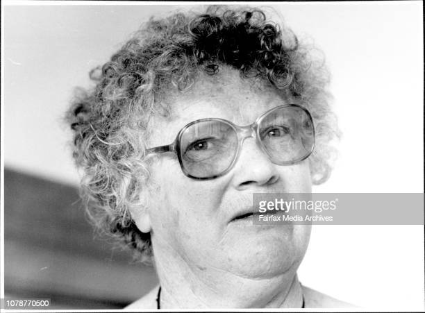 Writer Janet Frame pictured at her Motel room at Kings Cross today November 19 1985