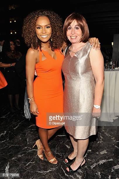 Writer Janet Mock and activist Melissa Sklarz attends PFLAG National's eighth annual Straight for Equality awards gala at Marriot Marquis on April 4...