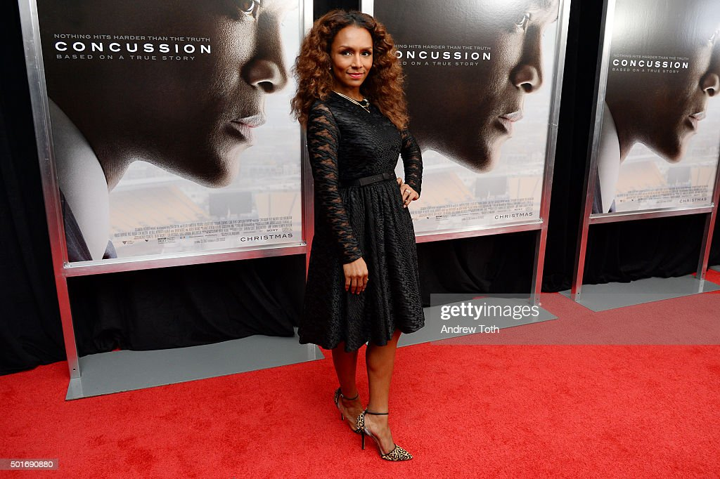 Writer Janet Mock attends the 'Concussion' New York premiere at AMC Loews Lincoln Square on December 16, 2015 in New York City.