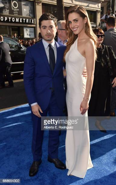 Writer Jason Fuchs and actress Alexandra Siegel attends the premiere of Warner Bros Pictures' 'Wonder Woman' at the Pantages Theatre on May 25 2017...