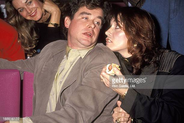 Writer Jay McInerney and actress Margot Kidder attend The Concert for Walden Woods on October 21 1991 at Madison Square Garden in New York City