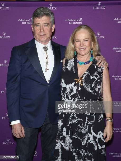 Writer Jay McInerney and Anne Hearst attend the 35th Annual Alzheimer's Association Rita Hayworth Gala at Cipriani 42nd Street on October 23 2018 in...