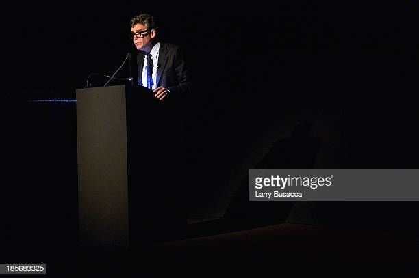 Writer Jay McInerney speaks during PRADA Journal A Literary Contest In Collaboration With Feltrinelli Editore at the Prada Epicenter Store on October...