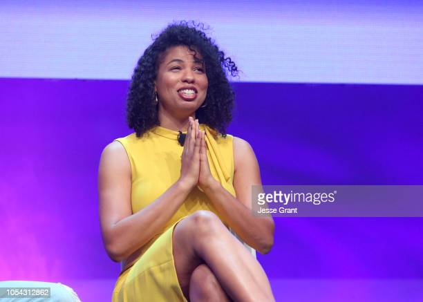 Writer Jazz SmollettWarwell attends the SUPERCHARGED Summit By Kwanza Jones At NeueHouse Hollywood on October 27 2018 in Los Angeles California