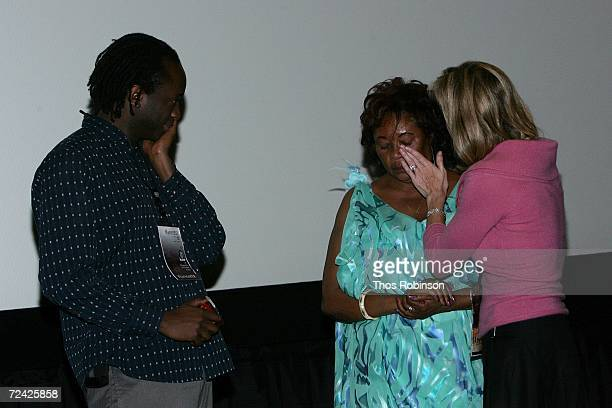 Writer JB Rutagarama his mother Imaculee Mukanyonza and producer Linda Vester speak at the World Premiere of Back Home during AFI FEST 2006 presented...