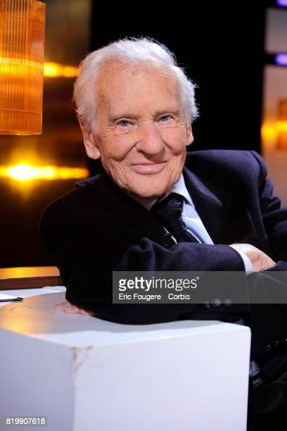 Writer Jean d'Ormesson poses during a portrait session in Paris France on