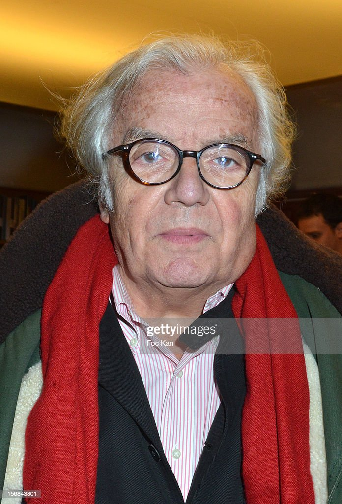 Writer Jean Loup Chiflet attends 'Home' India Madhavi and Soline Delos Book Launch at Musee Arts Decoratif Bookshop on November 22, 2012 in Paris, France.