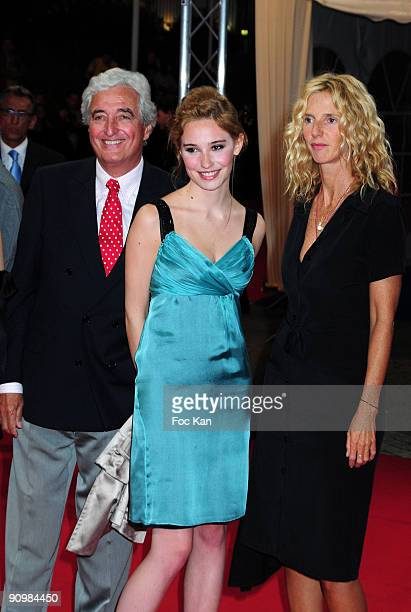 Writer Jean Loup Dabadie actresses Deborah Francois and Sandrine Kiberlain attend the 35th Deauville Film Festival Me And Orson Welles Premiere at...