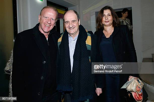 Writer Jean Teule Pierre Lescure and his wife Frederique attend the Jean Paul Gaultier Spring Summer 2016 show as part of Paris Fashion Week on...