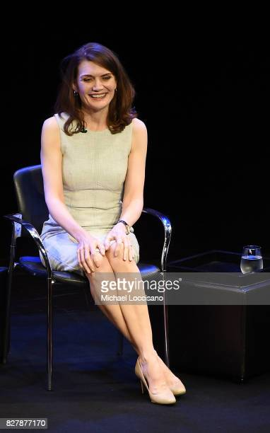 Writer Jeannette Walls takes part in the TimesTalks Series presentation of The Glass Castle at Florence Gould Hall on August 8 2017 in New York City