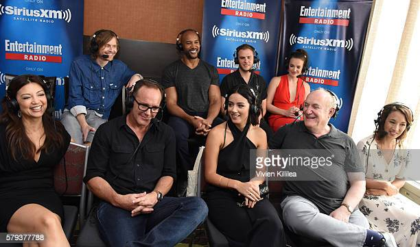 Writer Jed Whedon actors Henry Simmons Iain de Caestecker Elizabeth Henstridge MingNa Wen Clark Gregg and Chloe Bennet executive producer Jeph Loeb...