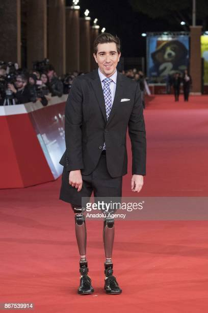 Writer Jeff Bauman victim of Boston marathon bombing 2013 attends the red carpet of the movie Stronger during 12th Film Fest of Rome at Auditorium...