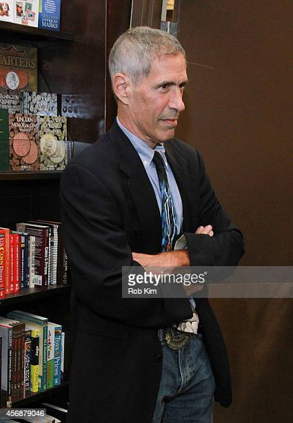 """Writer Jeff Rovin attends Gillian Anderson In Conversation With Jeff Rovin to promote new book """"A Vision of Fire"""" at Barnes & Noble Tribeca on..."""