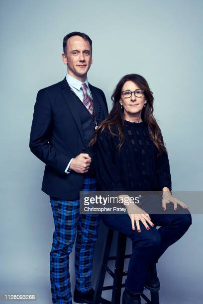 Writer Jeff Whitty and director Nicole Holofcener pose for a portrait on February 23 2019 at the 2019 Film Independent Spirit Awards in Santa Monica...