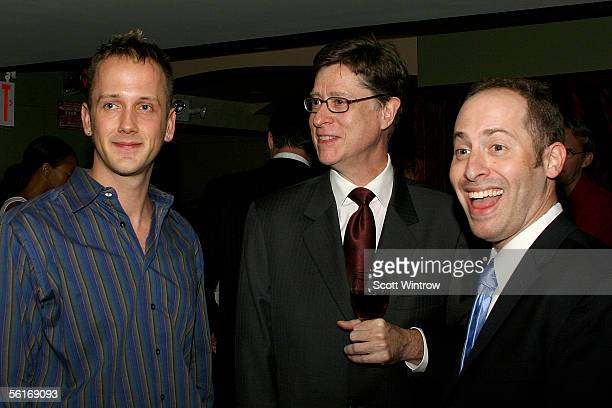 Writer Jeff Whitty Peter Franklin and Jeremy Katz attend the William Morris Agency Honors the Actor's Fund Of America Party at Providence on November...