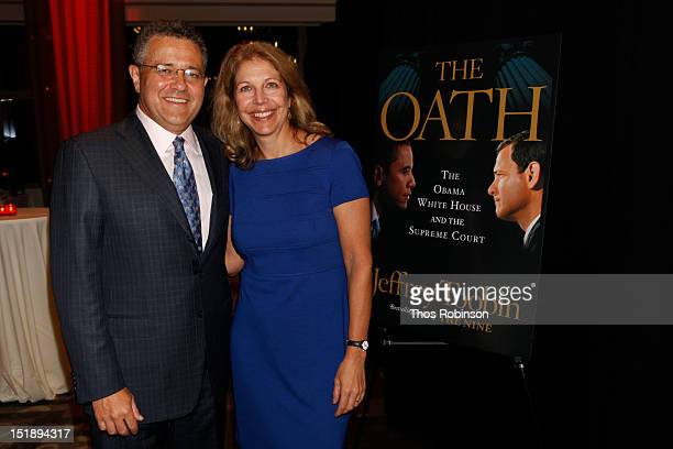 Writer Jeffrey Toobin and Amy McIntosh attend Book Launch For Jeffrey Toobin's The Oath at Time Warner Center on September 12 2012 in New York City