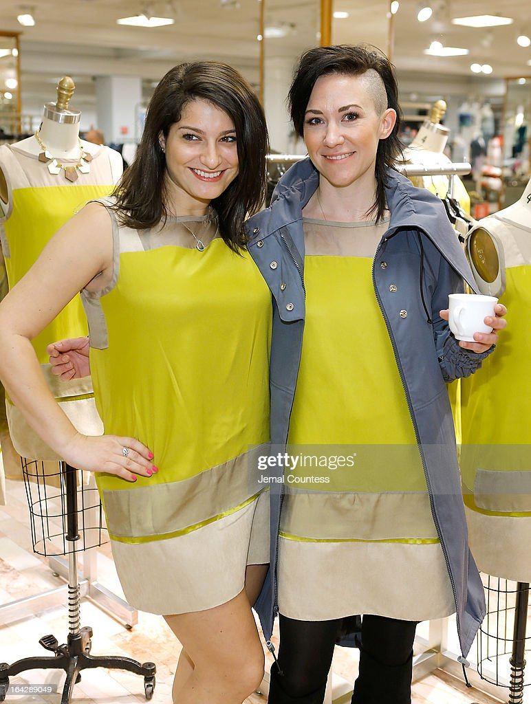 Writer Jennifer Mara and designer Michelle Franklin during an in-store at the Lord & Taylor Flagship store on March 22, 2013 in New York City.