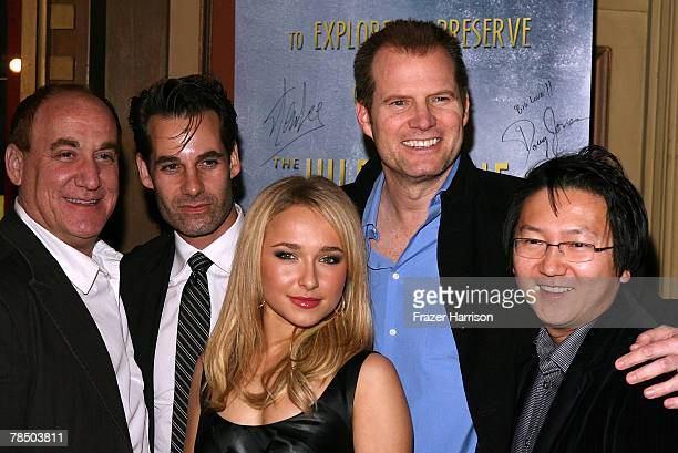 Writer Jeph Loeb Adrian Pasdar Hayden Panettiere Jack Coleman and actor Masi Oka pose at the Jules Verne Adventure Film Festival Closing Day Lifetime...