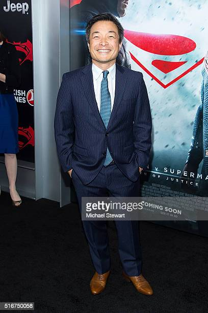 Writer Jim Lee attends the Batman V Superman Dawn Of Justice New York premiere at Radio City Music Hall on March 20 2016 in New York City