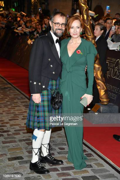 Writer JK Rowling and Neil Michael Murray attend Fantastic Beasts The Crimes Of Grindelwald World Premiere at UGC Cine Cite Bercy on November 8 2018...
