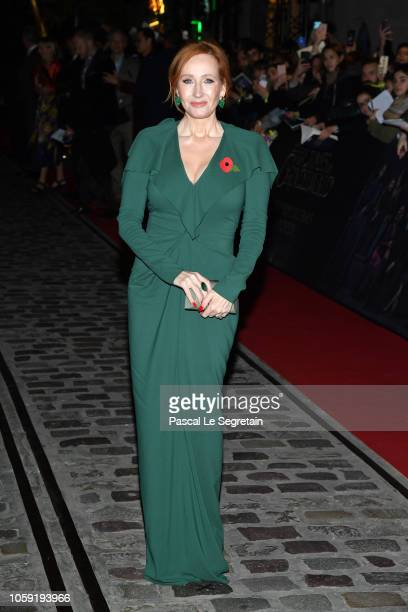 Writer JK Rowling attends Fantastic Beasts The Crimes Of Grindelwald World Premiere at UGC Cine Cite Bercy on November 8 2018 in Paris France