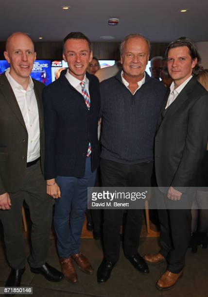 Writer John August composer Andrew Lippa cast member Kelsey Grammer and director Nigel Harman attend the press night after party for Big Fish The...