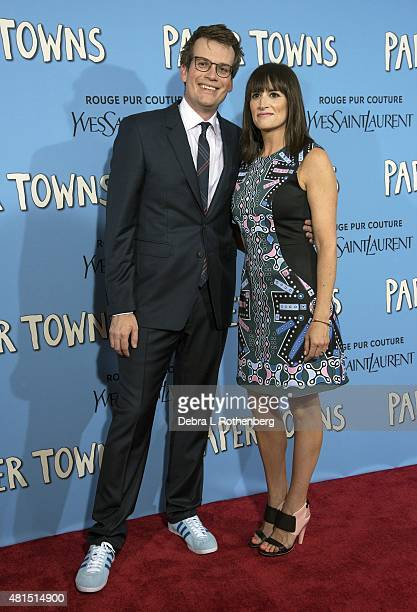 Writer John Green at the New York Premiere of Paper Towns at AMC Loews Lincoln Square on July 21 2015 in New York City