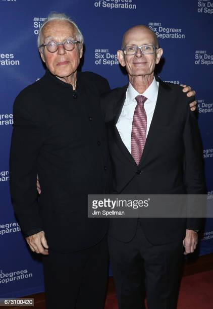 Writer John Guare And Guest Attend The Six Degrees Of Separation Broadway Opening Night