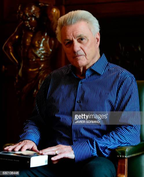 US writer John Irving poses during the presentation of his new novel Avenida de los Misterios at the Casa America in Madrid on May 10 2016 / AFP /...