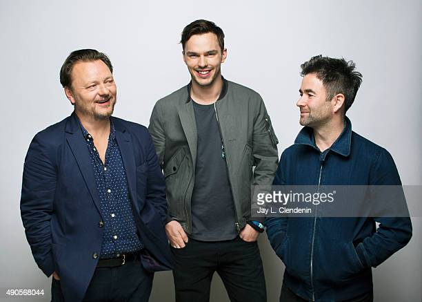 Writer John Niven actor Nicholas Hoult and director Owen Harris from the film Kill Your Friends are photographed for Los Angeles Times on September...