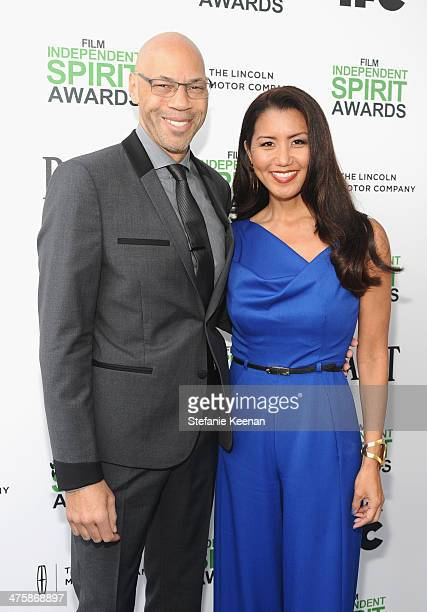 Writer John Ridley and Gayle Ridley attend the 2014 Film Independent Spirit Awards at Santa Monica Beach on March 1 2014 in Santa Monica California