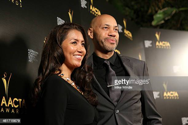 Writer John Ridley and Gayle Ridley attend the 3rd AACTA International Awards at Sunset Marquis Hotel Villas on January 10 2014 in West Hollywood...