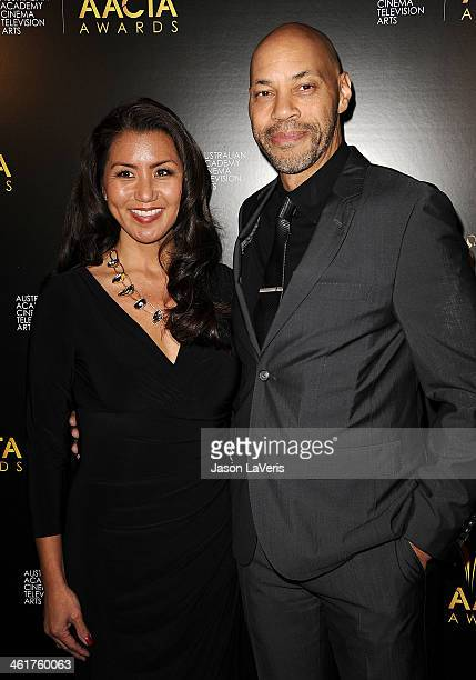Writer John Ridley and Gayle Ridley attend the 3rd annual AACTA International Awards at Sunset Marquis Hotel Villas on January 10 2014 in West...