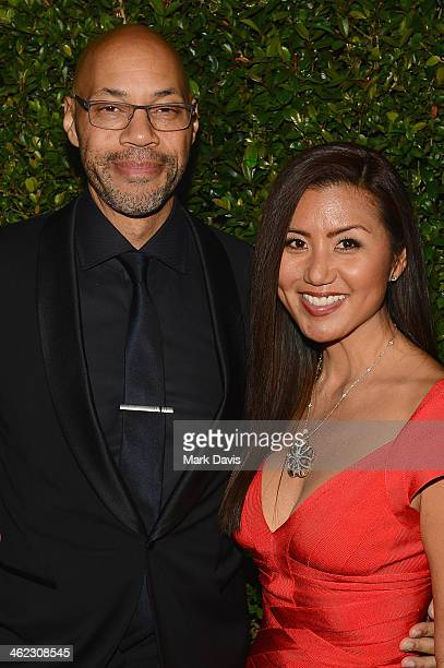 Writer John Ridley and Gayle Ridley attend the Fox And FX's 2014 Golden Globe Awards Party on January 12 2014 in Beverly Hills California
